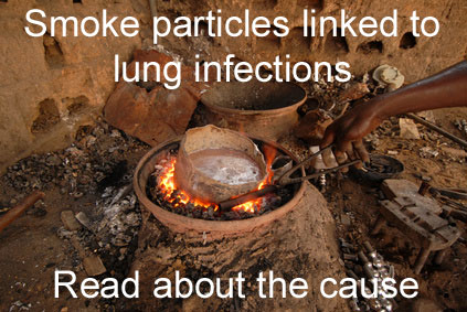 Smoke particles linked to lung infections